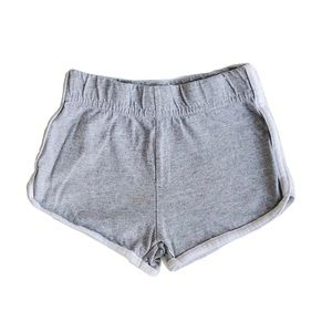 Gray Shorts with White Girl Size 2T